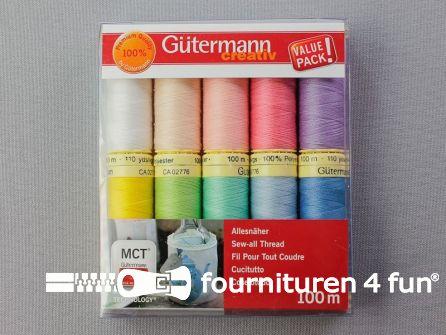 Gütermann Allesnaaigarenset - pastelkleuren - 10x100 meter