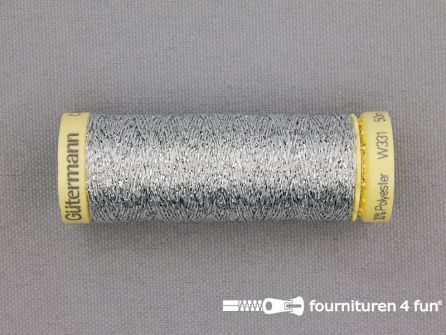 Gütermann Metallic naaigaren - 50 meter - zilver
