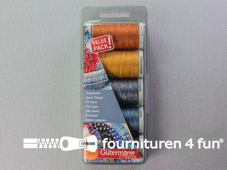 Gütermann Naaigarenset jeans - 3x100 meter + 2x200 meter