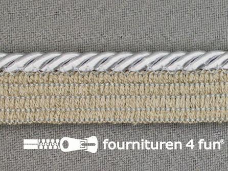 Rol 20 meter gedraaid paspelband 18mm licht grijs