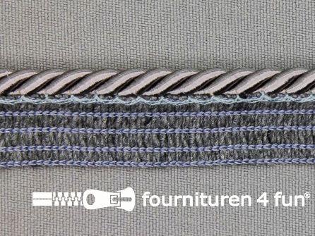 Gedraaid paspelband 18mm donker grijs