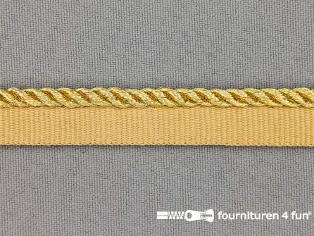 Gedraaid paspelband 14mm goud