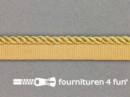 Rol 20 meter gedraaid paspelband 14mm goud