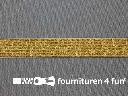 Gekleurd  elastiek 20mm goud