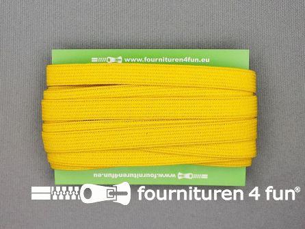 Rol 25 meter gekleurd soepel elastiek 10mm geel