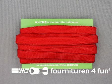 4 Meter gekleurd soepel elastiek 10mm rood