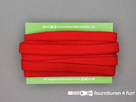 Rol 25 meter gekleurd soepel elastiek 10mm rood