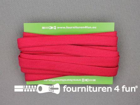 Rol 25 meter gekleurd soepel elastiek 10mm fuchsia roze