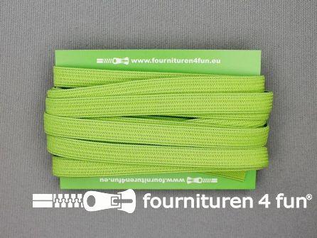 4 Meter gekleurd soepel elastiek 10mm lime groen
