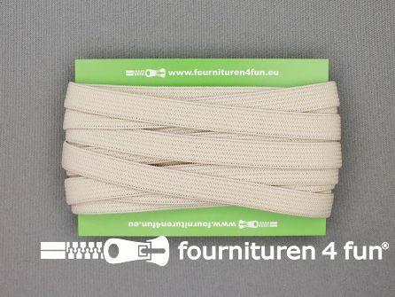 Rol 25 meter gekleurd soepel elastiek 10mm beige
