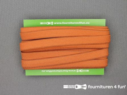 Rol 25 meter gekleurd soepel elastiek 10mm brique