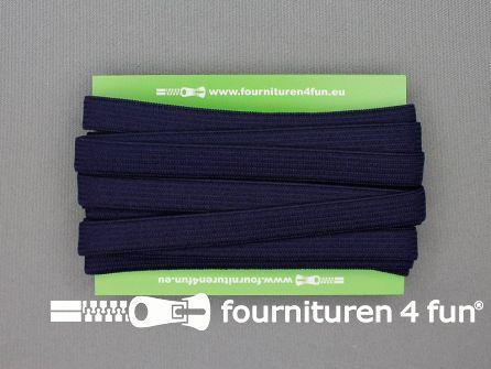 Rol 25 meter gekleurd soepel elastiek 10mm marine blauw