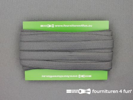 4 Meter gekleurd soepel elastiek 10mm donker grijs