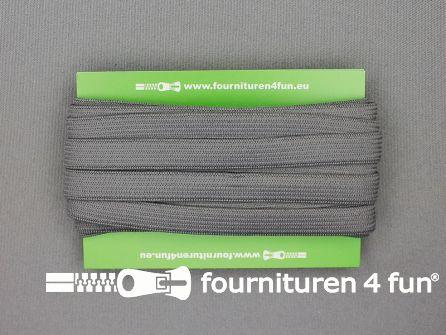 Rol 25 meter gekleurd soepel elastiek 10mm donker grijs