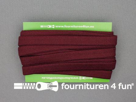 4 Meter gekleurd soepel elastiek 10mm bordeaux