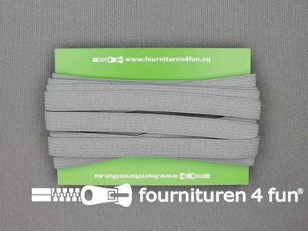 Rol 25 meter gekleurd soepel elastiek 10mm licht grijs