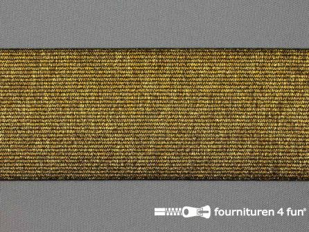 Gekleurd  elastiek 60mm zwart goud