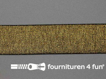 Gekleurd  elastiek 40mm zwart goud