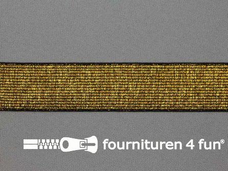Gekleurd  elastiek 30mm zwart goud