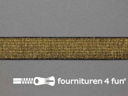 Gekleurd  elastiek 25mm zwart goud