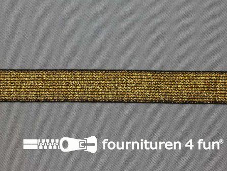 Gekleurd  elastiek 20mm zwart goud