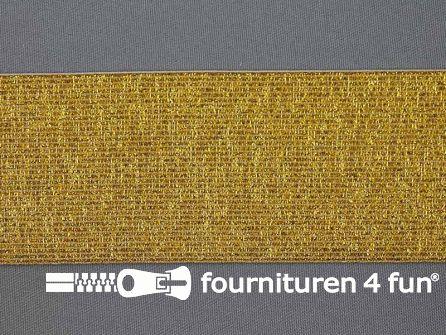 Gekleurd  elastiek 60mm goud