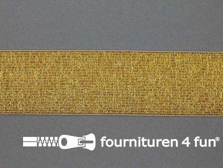 Gekleurd  elastiek 40mm goud