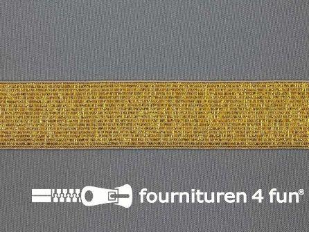 Gekleurd  elastiek 30mm goud