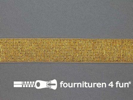Gekleurd  elastiek 25mm goud