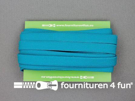 4 Meter gekleurd soepel elastiek 10mm aqua blauw