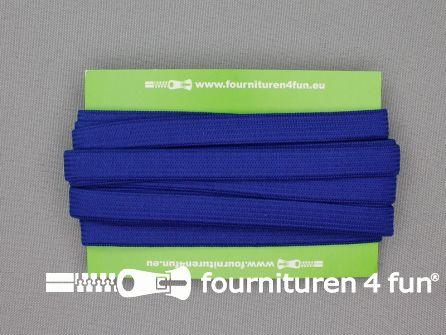 4 Meter gekleurd soepel elastiek 10mm kobalt blauw