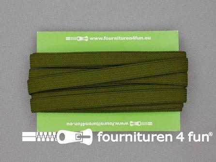 4 Meter gekleurd soepel elastiek 10mm leger groen