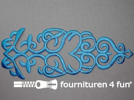 Barok applicatie 280x110mm aqua blauw