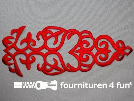 Barok applicatie 280x110mm rood