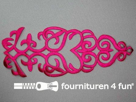 Barok applicatie 280x110mm fuchsia roze