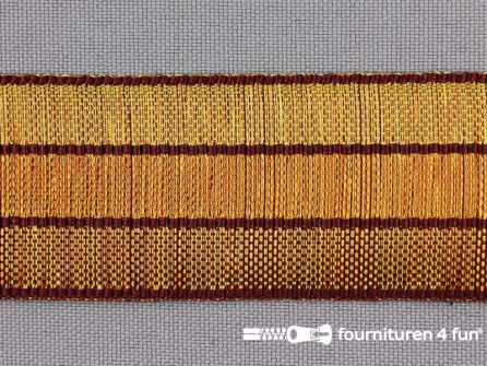 Gestreept nylon keperband 30mm oranje - brique