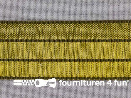 Gestreept nylon keperband 30mm olijf - leger groen