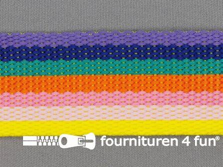 Gestreept tassenband 40mm multicolor