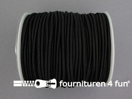 Rol 50 meter budget elastisch koord 2,7mm zwart