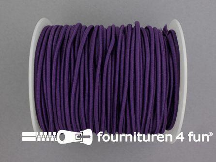Rol 50 meter budget elastisch koord 2,7mm paars