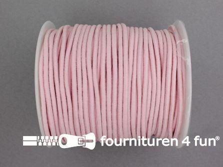 Rol 50 meter budget elastisch koord 2,7mm roze