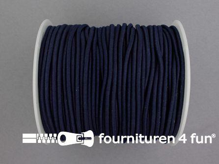 Rol 50 meter budget elastisch koord 2,7mm marine blauw