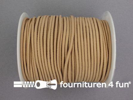 Rol 50 meter budget elastisch koord 2,7mm beige