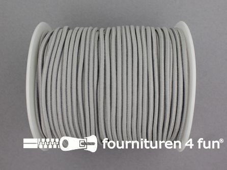 Rol 50 meter budget elastisch koord 2,7mm licht grijs