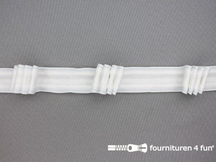 RESTANTEN Gordijnband 25mm wit 4-plooi (caravan plooiband) - 10 losse stukken, totaal 48,45 meter
