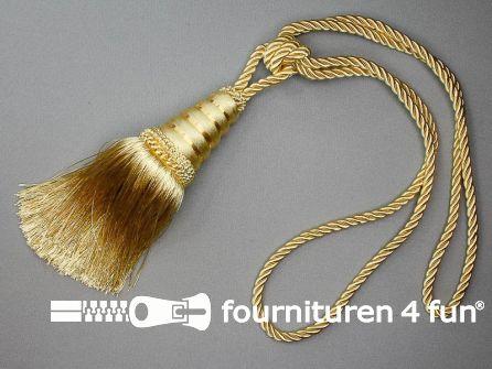 Gordijnkwast 200mm met koord ecru goud