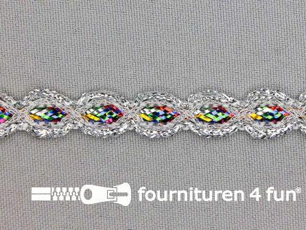 Zilver band 10mm multicolor