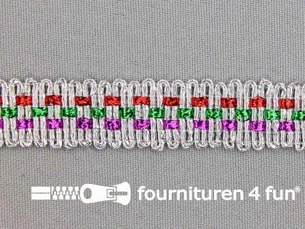 Zilver band 15mm multicolor