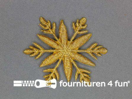 Barok applicatie 58x58mm goud sneeuwvlok