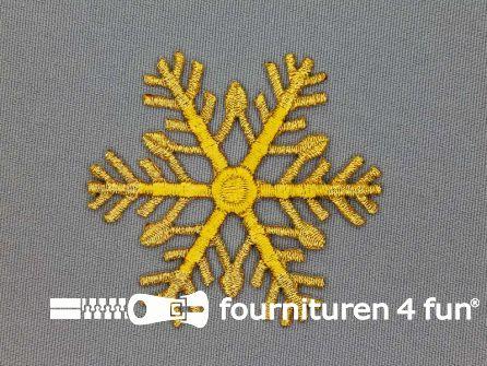 Barok applicatie 60x60mm goud sneeuwvlok
